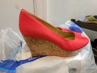 pair of red leather peep-toe pumps Fairfax, 22033