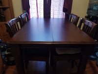 Table with 4 chairs and leaf to extend for more people. Not pictured but included   Hampton, 23669