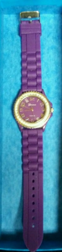 NEW Women's Geneva Purple Watch w/ Crystals