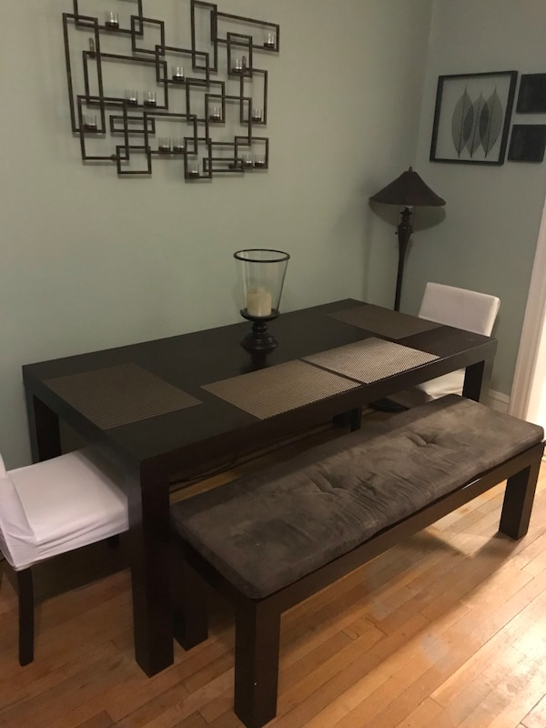 Awesome Cb2 Indie Dining Room Table With 2 Benches And 2 Chairs Caraccident5 Cool Chair Designs And Ideas Caraccident5Info