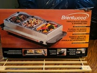 Triple buffet server with warming trays Revere, 02151