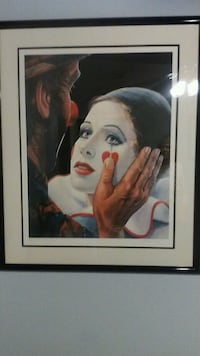 clown poster with black steel frame