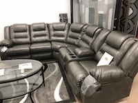 Reclining leather sectional  601 mi