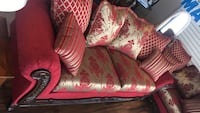 red and white floral sofa chair Dunn, 28334