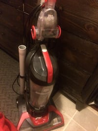 red and black upright vacuum cleaner Edmonton, T6P 0A4