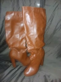 pair of brown leather knee-high boots Rohnert Park, 94928