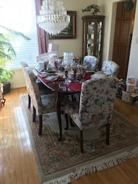 Dining set 6 chairs and table -one small spot on table table Ashburn
