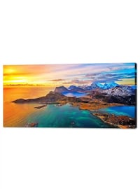 Wall Art Decor Canvas Print Picture Painting for Living Room Large Sunset Seascape Nature Wildlife Volcano Island Home Bedroom Decoration Modern Fram  Eastvale, 92880