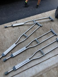 2 pairs of crutches