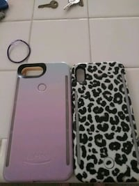 IPhone cases purplish one is iphone8+ the other is just iphone