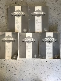 2003 Chevy and GMC service manuals Kansasville, 53139