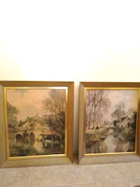 brown wooden framed painting of trees Haughton, 71037