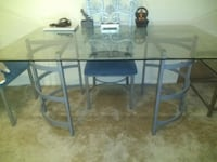 Table with chairs. Coffee table and 2 side tables. ( SET) ALEXANDRIA
