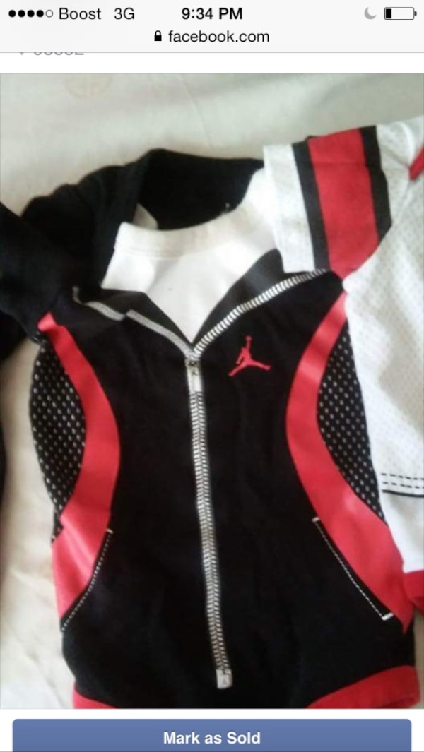 a06ab013482 Used black white red air jordan jacket for sale in Palmdale - letgo
