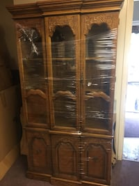 brown wooden framed glass display cabinet North Canton, 44720