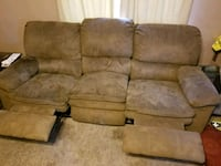 Double recliner couch San Angelo, 76901