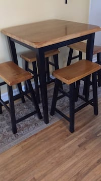 Pub Set with 4 Saddle chairs Fairport, 14450