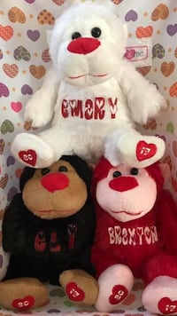 3 monkey plush toys Houston, 77027