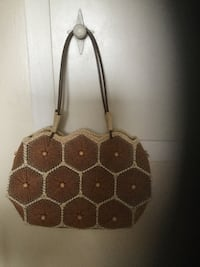 brown and beige honeycomb themed tote bag Dartmouth, B2Y 3V8