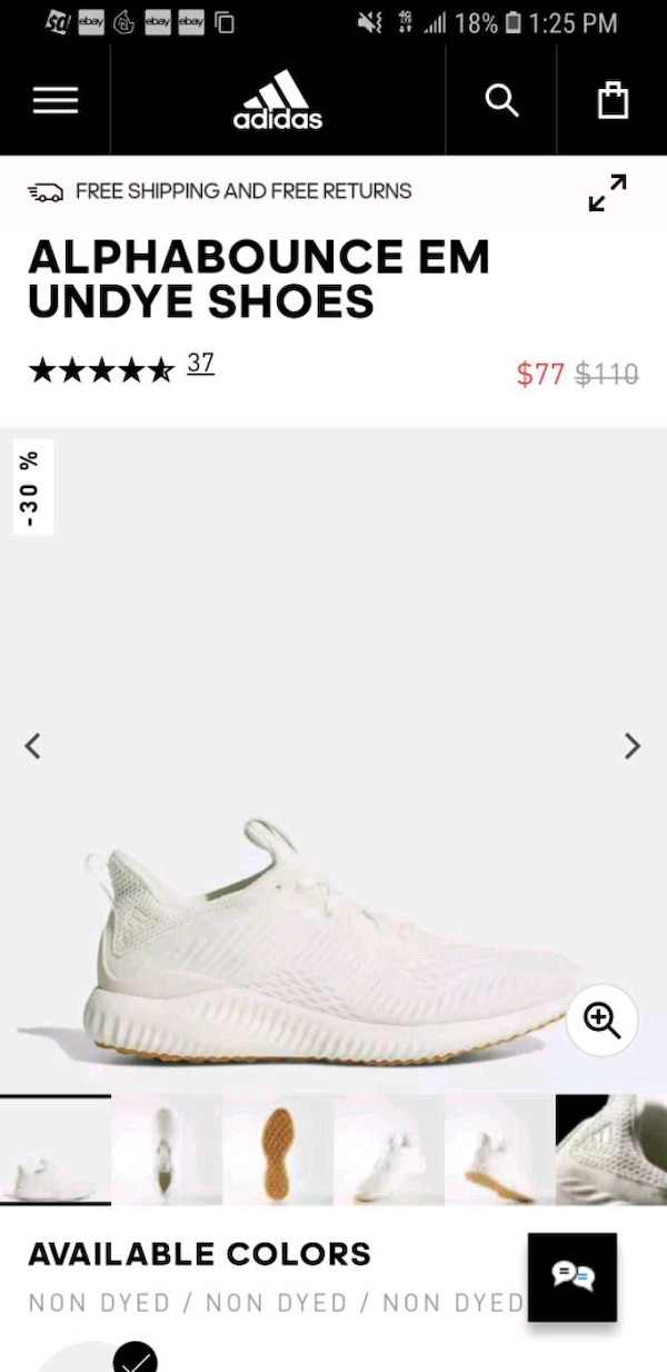 ae282feb65a6b Used adidas Alphabounce EM Undye Shoes Men s . for sale in Mountain View -  letgo