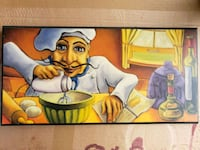 Stylish chef wall art  O'Fallon, 63366