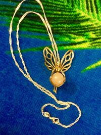 """Sterling Silver Butterfly  pendant silver necklace / Silver chain 18"""" inch long / Sterling Silver 925 stamped 39 km"""