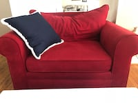 red fabric 2-seat sofa Poolesville, 20837
