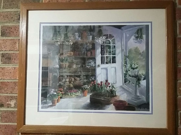 Home Interiors And Gifts Print Solid Wood Frame