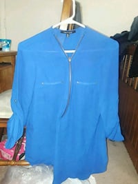 Blue Zip Up Blouse ( XL) Midwest City, 73110