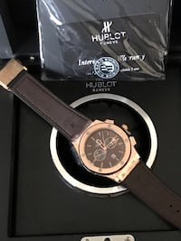 HUBLOT GENEVE Men's Leather Wristband Watch !!! Brand New !!! Katy, 77450