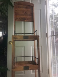 brown wooden framed glass display cabinet Lake Mary, 32746