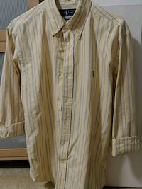 Yellow button-up long-sleeved shirt, Ralph Lauren  Arlington, 22206