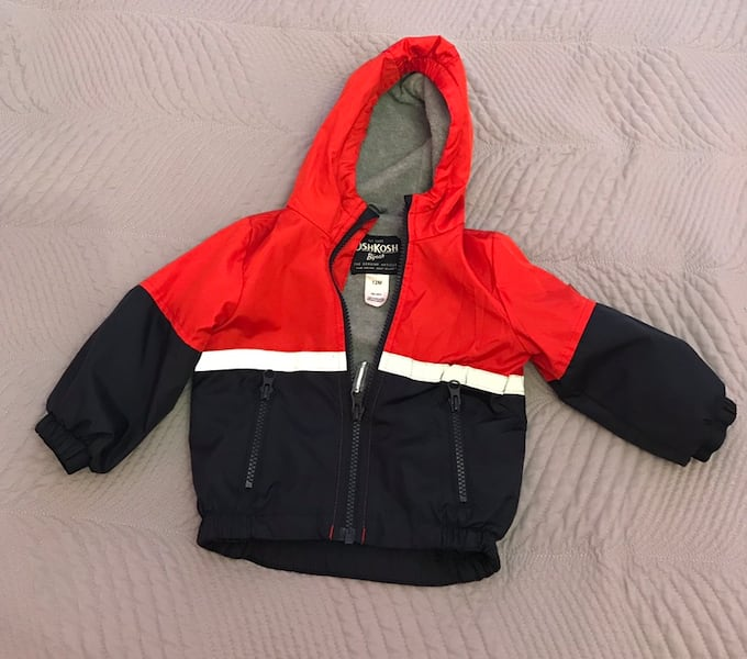 12 month fleece lined spring/fall jacket 0