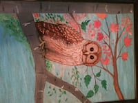 Barred owl painting hand painted Warner Robins