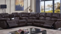 Espresso leather sectional power motion Fresno, 93728