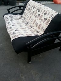Black and white floral fabric sofa Kelowna