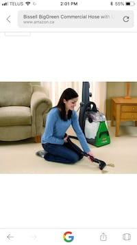New!! Bissell BigGreen Commercial Hose with Upholstery Tool for BG10, Deep Cleaning Machine St Thomas, N5R 6M6
