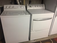 Hotpoint washer and dryer. Both work well. 150 for both.  Mapleton