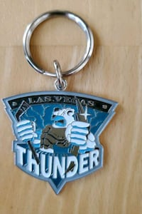Las Vegas Thunder Hockey Team Vintage Keychain (team no longer exists) Chicago