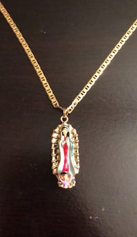 gold-colored chain necklace with pendant Hyattsville, 20783