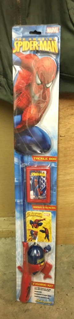 Letgo spider man fishing rod in house springs mo for Spiderman fishing pole
