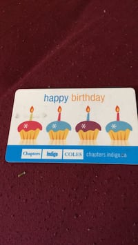 Chapters gift cards 57.85 Toronto, M4E 3W8