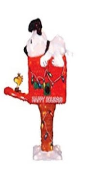 Snoopy woodstock motion mailbox lighted christmas decor