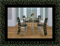 Counter height glass dining table with 4 chairs UNIVERSITY PA, 20782