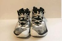UNDER ARMOUR BGS BASKETBALL SHOES Size 4Y Black & White - Pre Owned