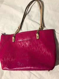 women's red leather tote bag Falls Church, 22043