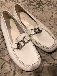 pair of white leather loafers Worcester, 01610