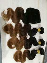 "Ombre bundles with closures 14"" cl with 14 16 18"""