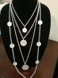 silver-colored necklace and earrings San Antonio, 78253