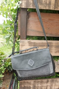 THE STONE  Grey Leather Shoulder bag Maple Ridge